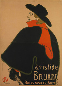 Art Prints of Aristide Bruant, at His Cabaret by Henri de Toulouse-Lautrec