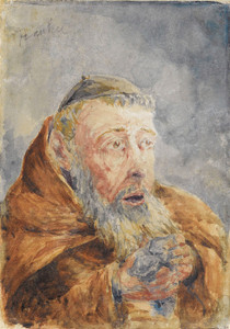 Art Prints of Portrait of a Monk by Henri de Toulouse-Lautrec