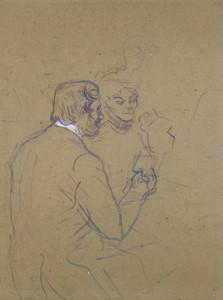 Art Prints of Snobbery or at Larue by Henri de Toulouse-Lautrec
