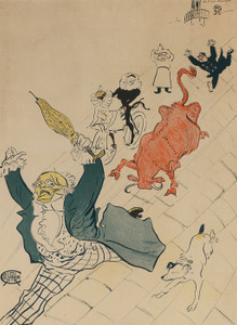 Art Prints of The Mad Cow by Henri de Toulouse-Lautrec