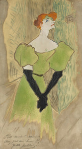 Art Prints of Yvette Guilberty by Henri de Toulouse-Lautrec