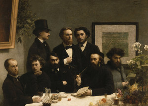 Art Prints of By the Table by Henri Fantin-Latour