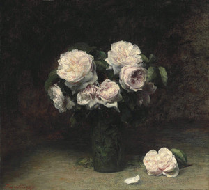 Art Prints of Roses in a Glass by Henri Fantin-Latour