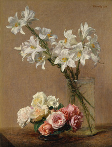 Art Prints of Roses and Lilies by Henri Fantin-Latour