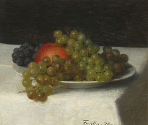 Art Prints of Apples and Grapes by Henri Fantin-Latour