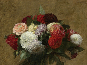 Art Prints of Dahlias by Henri Fantin-Latour