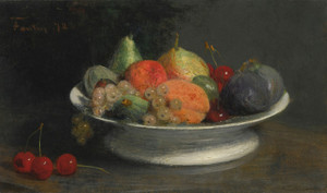 Art Prints of Still Life Fruit Bowl by Henri Fantin-Latour