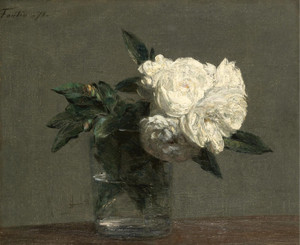 Art Prints of White Roses by Henri Fantin-Latour