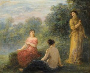 Art Prints of Three Nymphs by Henri Fantin-Latour