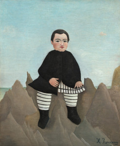 Art Prints of Boy on the Rocks by Henri Rousseau