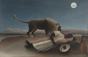 Art Prints of The Sleeping Gypsy by Henri Rousseau