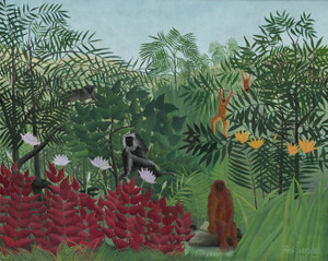 Art Prints of Tropical Forest with Monkeys by Henri Rousseau