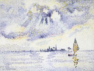 Art Prints of Sunset on the Lagoon, Venice by Henri-Edmond Cross