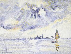 Art Prints of Sunset on the Lagoon, Venice by Henri-Edmond Cross