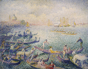 Art Prints of Regatta in Venice by Henri-Edmond Cross