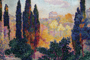 Art Prints of Cypresses in Cagnes by Henri-Edmond Cross