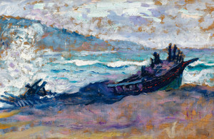 Art Prints of Boat on the Beach by Henri-Edmond Cross