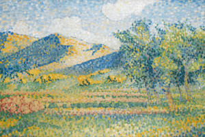 Art Prints of landscape, Chain Moors by Henri-Edmond Cross