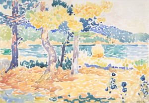 Art Prints of Pines on the Coastline by Henri-Edmond Cross