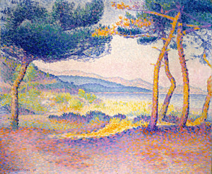 Art Prints of Pines Along the Shore by Henri-Edmond Cross