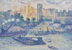 Art Prints of Quay at Passy by Henri-Edmond Cross