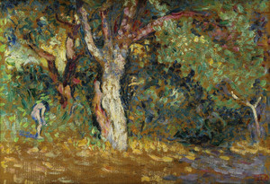 Art Prints of Study of a Nude in the Undergrowth by Henri-Edmond Cross