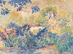 Art Prints of The Artist's Garden at Saint Clair by Henri-Edmond Cross