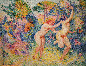 Art Prints of Two Running Nymphs by Henri-Edmond Cross