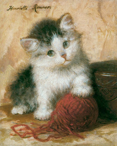 Art Prints of Kitten in Mischief by Henriette Ronner Knip