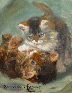 Art Prints of Kittens at Play, No. 2 by Henriette Ronner Knip