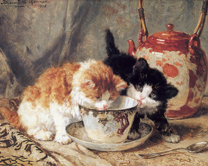 Art Prints of Tea Party by Henriette Ronner Knip