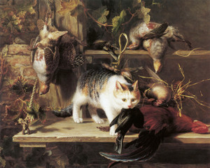 Art Prints of The Poacher, a Larder, Still Life by Henriette Ronner Knip
