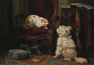 Art Prints of The Uninvited Guest by Henriette Ronner Knip