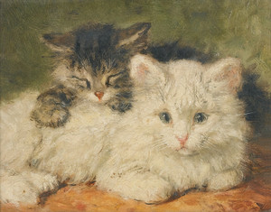 Art Prints of Two Kittens by Henriette Ronner Knip