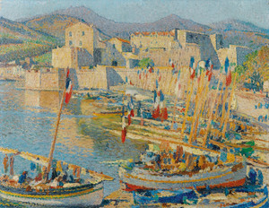Art Prints of July Fourteenth, Bastille Day, Collioure by Henri-Jean Guillaume Martin