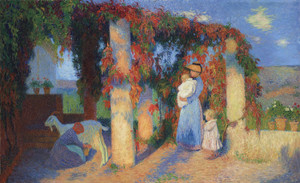 Art Prints of Pergola in Marquayrol with Figures by Henri-Jean Guillaume Martin