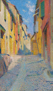 Art Prints of Sunny Street, Collioure by Henri-Jean Guillaume Martin