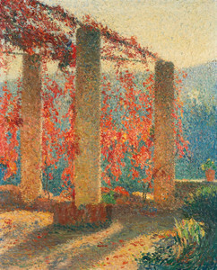Art Prints of The Pergola by Henri-Jean Guillaume Martin