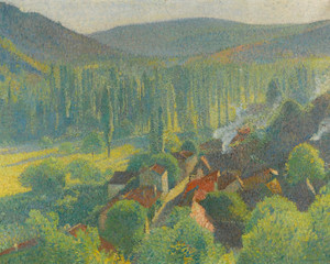 Art Prints of View of the Roofs Labastide Green by Henri-Jean Guillaume Martin