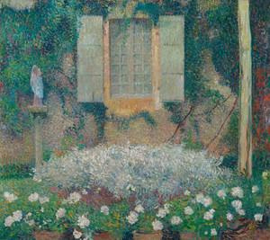 Art Prints of Window Overlooking the Kitchen Garden by Henri-Jean Guillaume Martin