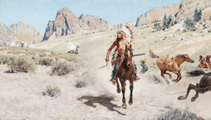 Art Prints of In Pursuit by Henry Farny