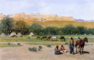 Art Prints of Indian Encampment by Henry Farny