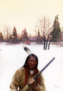 Art Prints of Hunter by Henry Farny