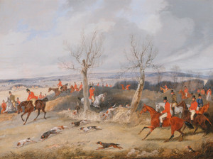 Art Prints of Hunting Scene, in Full Cry by Henry Thomas Alken