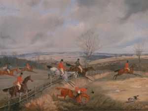 Art Prints of Hunting Scene, Drawing the Cover by Henry Thomas Alken