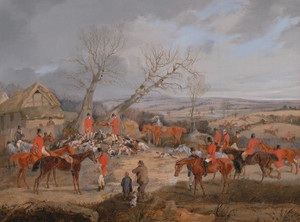 Art Prints of Hunting Scene, the Kill by Henry Thomas Alken