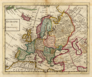 Art Prints of Europe, 1736 (5580003) by Herman Moll