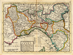 Art Prints of The Upper Part of Italy, 1736 (5580026) by Herman Moll