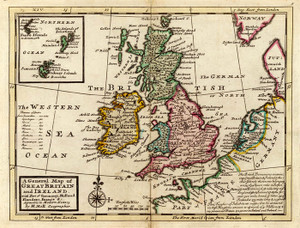 Art Prints of A General Map of Great Britain and Ireland (5580008) by Herman Moll