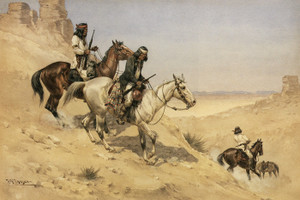 Art Prints of Apache Scouts by Herman Wendelborg Hansen